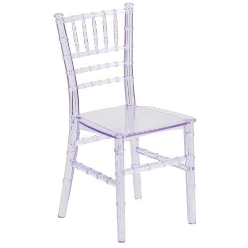 """24.75"""" Clear Traditional Outdoor Patio Chiavari Chair - IMAGE 1"""