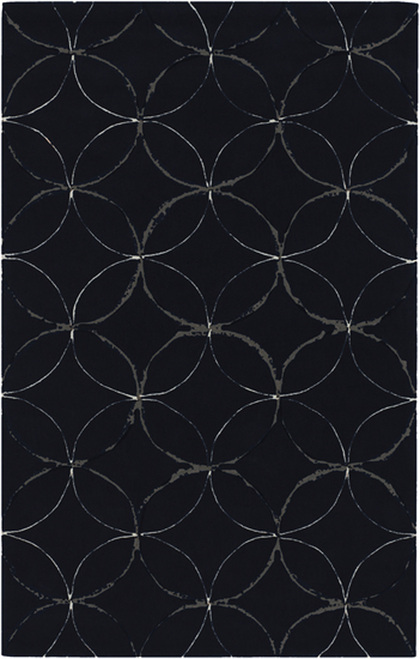 1.5' x 1.5' Blue and Gray Geometric Square Throw Rug - IMAGE 1