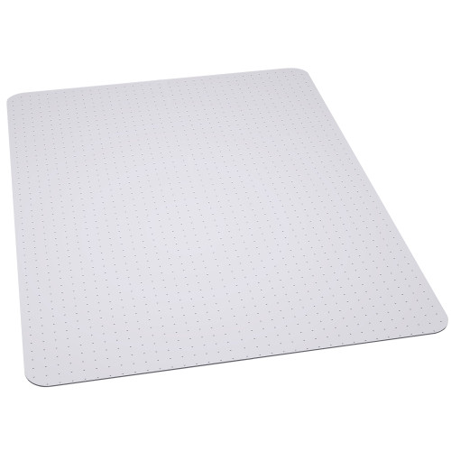 45'' x 53'' Clear Rectangular Gripper Carpet Chair Mat - IMAGE 1