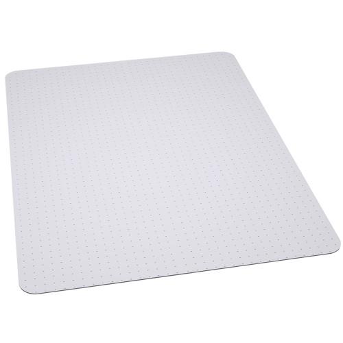 45'' x 53'' Clear Rectangular Gripper Carpet Chair Mat - IMAGE 1