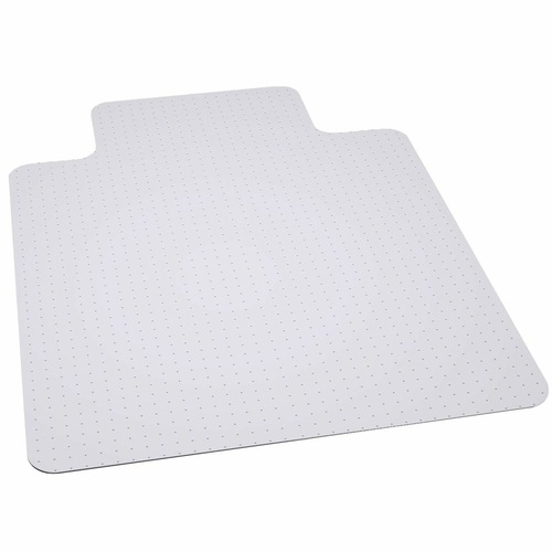 45'' x 53'' Clear Carpet Gripper Carpet Chair Mat with Lip - IMAGE 1
