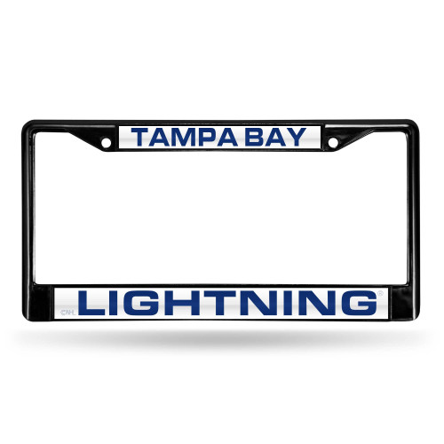 """6"""" x 12"""" Navy Blue and White NHL Tampa Bay Lightning License Plate Cover - IMAGE 1"""