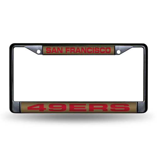 """6"""" x 12"""" Red and Black NFL San Francisco 49ers License Plate Cover - IMAGE 1"""