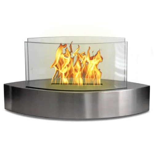 Anywhere Fireplace Tabletop Fireplace-Lexington Model Stainless Steel - IMAGE 1