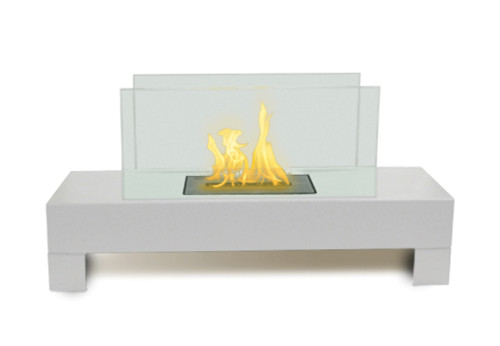 Anywhere Fireplace Indoor/Outdoor Fireplace-Gramercy Model White - IMAGE 1