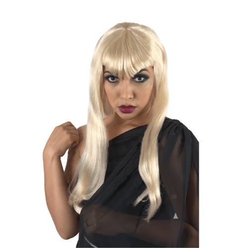 Long Blonde Vampiress Halloween Wig Costume Accessory- One Size Fits Most - IMAGE 1