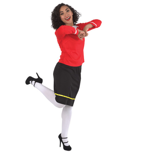 Black and Red Sailor Woman Halloween Costume- Large - IMAGE 1