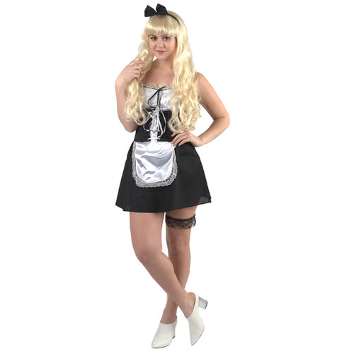 Black and White Maid Halloween Costume- Small - IMAGE 1