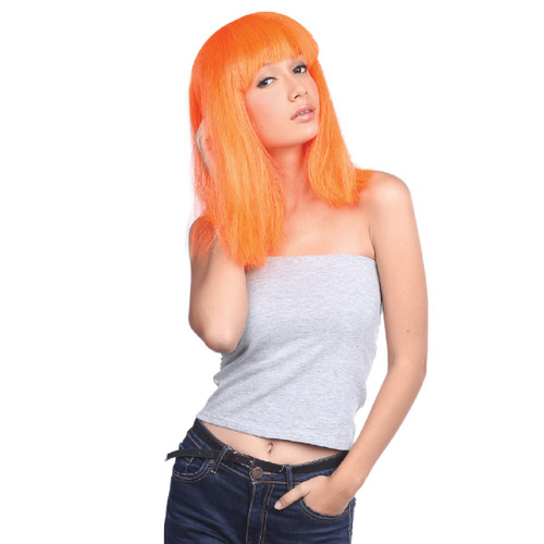 Bright Orange Halloween Wig Costume Accessory- One Size Fits Most - IMAGE 1