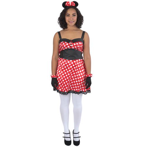 Polka Dotted Female Mouse Halloween Costume- Medium - IMAGE 1