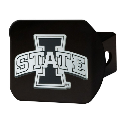 """4"""" Black and Gray NCAA Iowa State Cyclones Hitch Cover - IMAGE 1"""