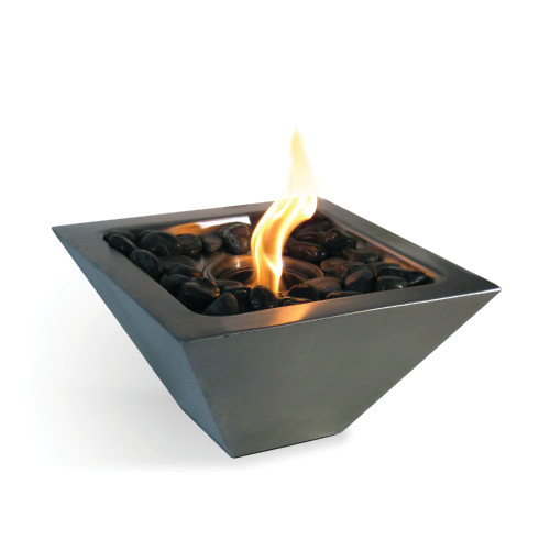 Anywhere Fireplace Empire Indoor/Outdoor Fireplace with Polished Black Rocks - IMAGE 1