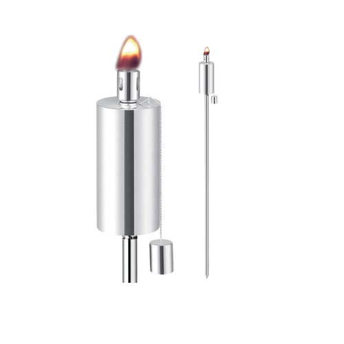 "Anywhere Garden Torch Outdoor Garden Torch - Cylinder Shape (2 pk) 65"" Tall - IMAGE 1"