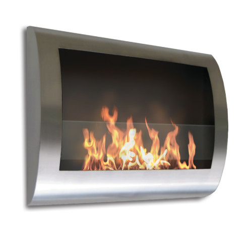 Anywhere Fireplace Indoor Wall Mount Fireplace - Chelsea Model Stainless Steel - IMAGE 1