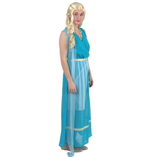 Blue Ocean Goddess Halloween Costume- Medium - IMAGE 1