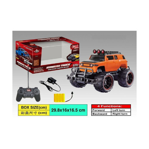 """11.5"""" Remote Control 1:20 Scale Cross Country Monster Truck with Charger - IMAGE 1"""