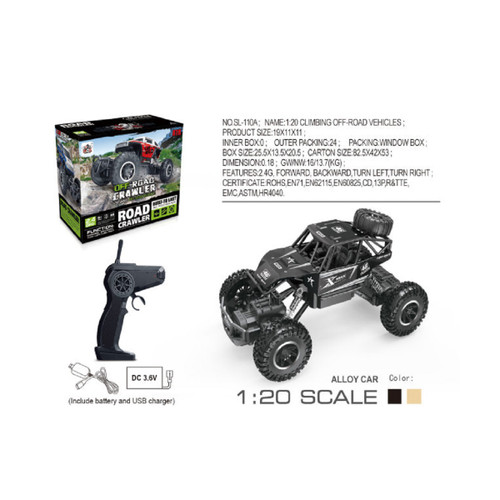"10"" Remote Control 1:20 Scale Off-Road Crawler Car with Charger - IMAGE 1"