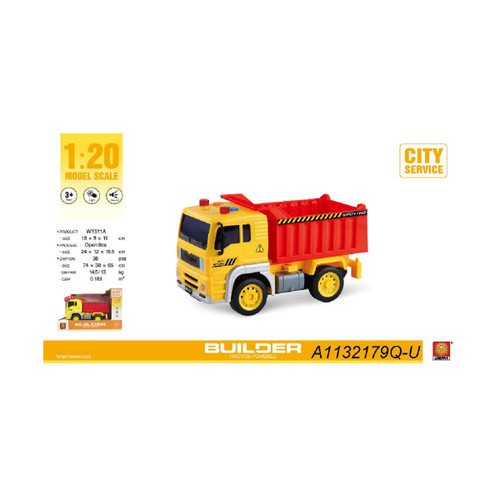 "9.25"" Container 1:20 Scale Toy Dumper Truck with Sound and Light - IMAGE 1"