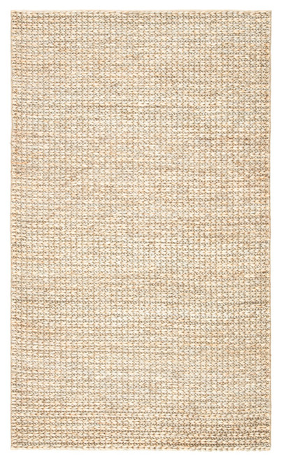 8' x 10' Tan Brown and Gray Solid Hand Loomed Rectangular Area Throw Rug - IMAGE 1