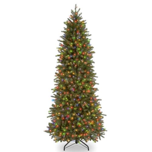 6.5' Pre-Lit Slim Jersey Fraser Artificial Christmas Tree – Multi color Lights - IMAGE 1
