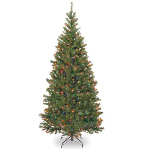 6' Pre-Lit Aspen Spruce Artificial Christmas Tree - Multi-Color Lights - IMAGE 1