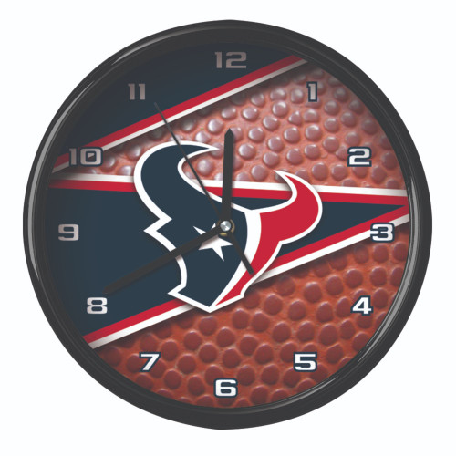 """11.5"""" Blue and Brown NFL Houston Texans Wall Clock - IMAGE 1"""