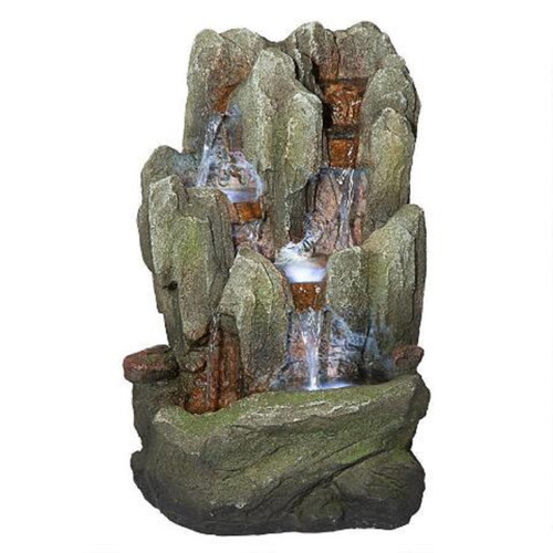 """14"""" Lost Falls Hand Finished Illuminated Outdoor Garden Statue - IMAGE 1"""