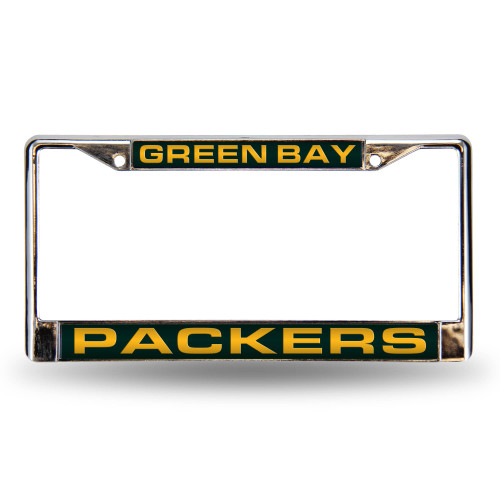 """6"""" x 12"""" Yellow and Black NFL Green Bay Packers License Plate Cover - IMAGE 1"""