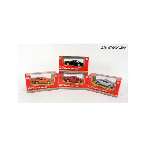 """Set of 4 Metal 1:50 Scale Die-Cast Model Mixed Cars 3.35"""" - IMAGE 1"""