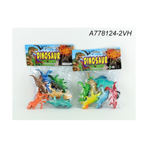 "12-Pieces Dinosaur Children's Plastic Toy in Header Pack Bag 10.5"" - IMAGE 1"
