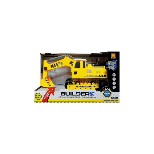 "13.25"" Friction 1:14 Scale Toy Excavator Truck with Sound and Light - IMAGE 1"