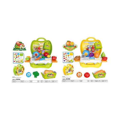 """Pack of 2 Vegetable Playset with Plastic Box and Card Children's Toy 9.25"""" - IMAGE 1"""