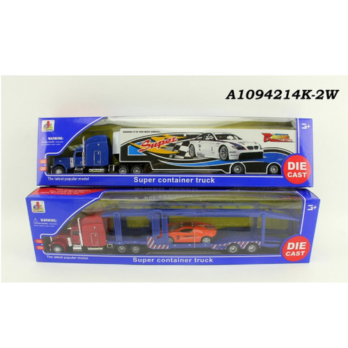 """Pack of 2 Die-Cast Super Container Truck 15.75"""" - IMAGE 1"""
