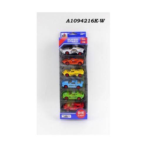 "Multi-Colored 6 pieces 1:64 Scale Die-Cast Super Speed Car 12.25"" - IMAGE 1"