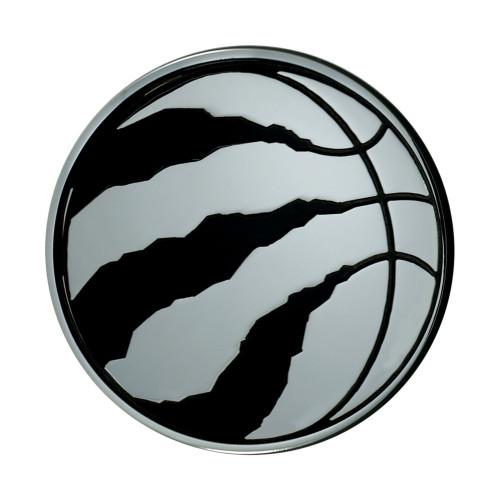 "3"" Stainless Steel and Black NBA Toronto Raptors 3D Emblem - IMAGE 1"