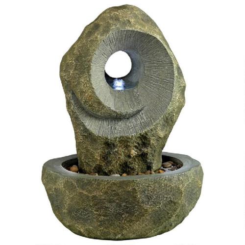 """31"""" Modern Spiral Cascading Outdoor Garden Fountain - IMAGE 1"""