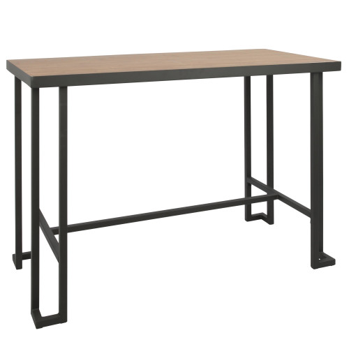 "48"" Natural Bamboo Counter Table with Antique Gray Metal Base - IMAGE 1"