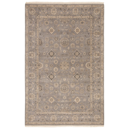 9' x 12' Gray Traditional Hand Knotted Rectangular Area Throw Rug - IMAGE 1
