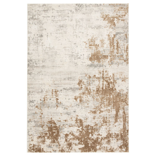 10' x 14' Ivory and Gold Rectangular Area Throw Rug - IMAGE 1