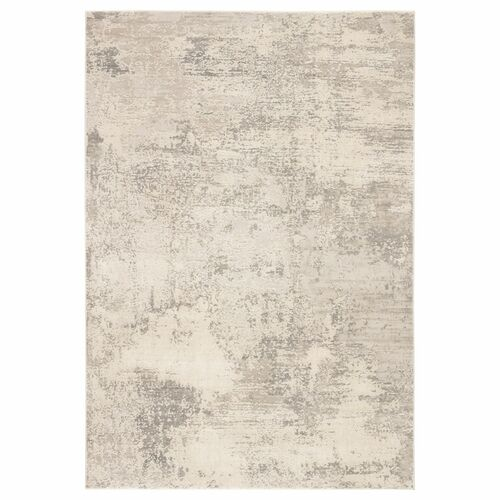 5' x 7.5' Gray and Ivory Abstract Rectangular Area Throw Rug - IMAGE 1