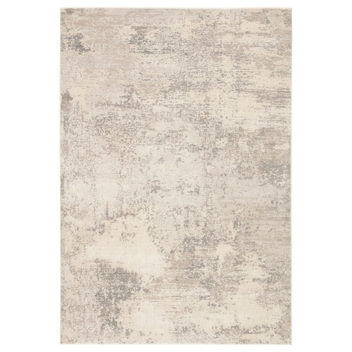 10' x 14' Gray and Ivory Abstract Rectangular Area Throw Rug - IMAGE 1
