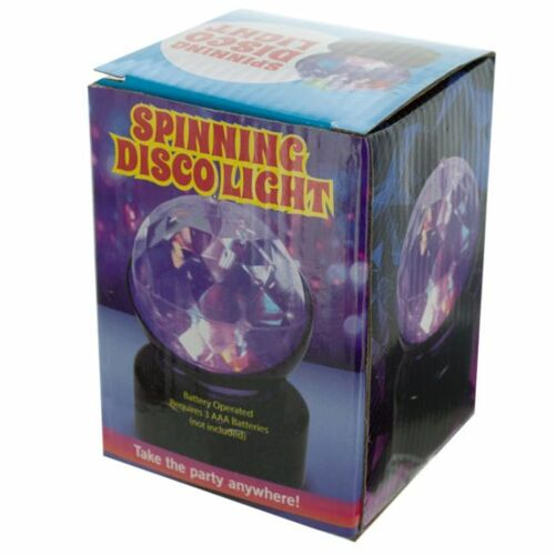 """Pack of 4 Clear and Black Spherical Spinning Disco Party Light 4.5"""" - IMAGE 1"""