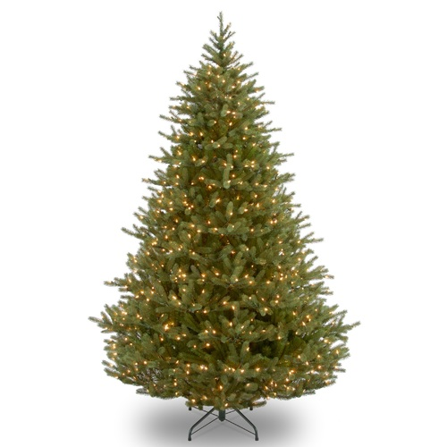 7.5' Pre-Lit Full Noble Artificial Christmas Tree - Clear Lights - IMAGE 1
