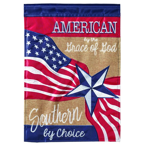 "Red and Blue Patriotic Rectangular Large Flag 42"" x 29"" - IMAGE 1"