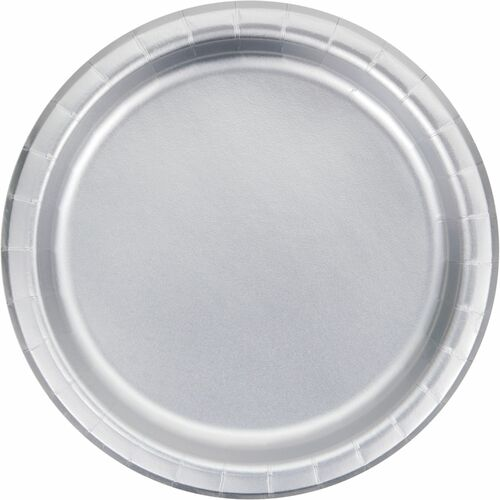 """Club Pack of 96 Silver Disposable Luncheon Plates 7"""" - IMAGE 1"""