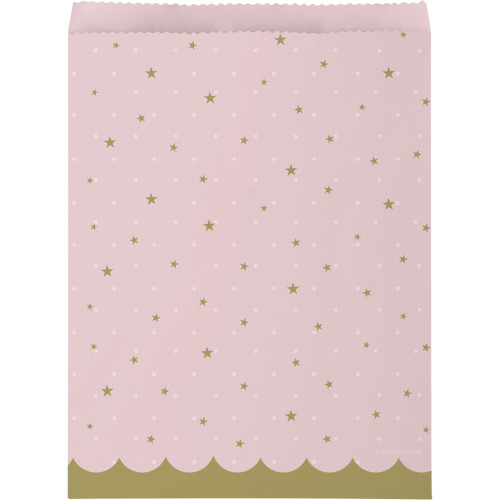 """Club Pack of 120 Pink and Gold Swan Party Treat Bags 8.75"""" - IMAGE 1"""