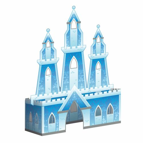 "Pack of 6 White and Blue 3D Snow Princess Centerpieces 8.25"" - IMAGE 1"