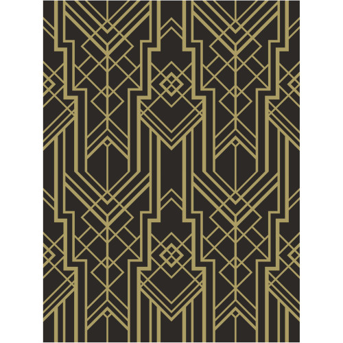 """Pack of 6 Black and Gold Roaring 1920s Photo Backdrop 72"""" - IMAGE 1"""