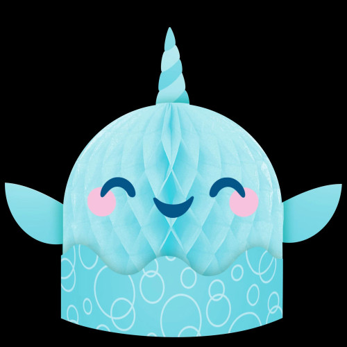 """Pack of 6 Blue and White Narwhal Party Centerpiece 14"""" - IMAGE 1"""