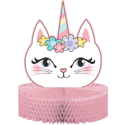 "Pack of 6 Pink and White Sassy Caticorn Centerpiece 12"" - IMAGE 1"